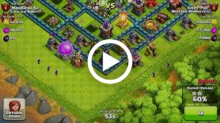 Clash of Clans - Menghancurkan Base Town Hall level Maksimum Hingga 100%